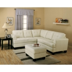 Ivory Bonded Leather