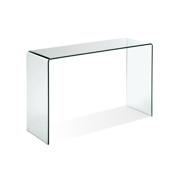 Siam Console Table. White Or Clear Tempered Glass