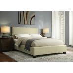 Sabra Linen Upholstered Platform Bed Frame