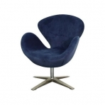 Beckett Fabric Swan Chair