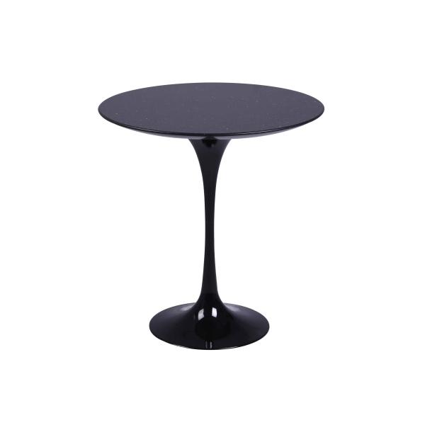 Black Marble Saarinen Tulip Style Side Table Passion Decor - Black marble saarinen table